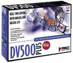 Digital/desktop video editing capture card: Pinnacle DV500 plus